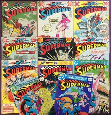 Superman 11 x Bronze Age issues between #256 & #333 (DC 1972 to 1977)
