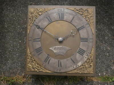 C1740 30HR LONGCASE GRANDFATHER CLOCK DIAL+movement 10X10   WILLm PAIN GODSTONE