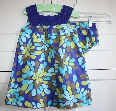 Cherokee Girls 18 M two Pc. Outfit Beautiful Mult-Color Print Bottoms and Dress