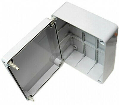 Junction box 300 x 220 x 120mm weatherproof adaptable enclosure IP56 PVC with