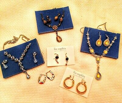 Beautiful Lia Sophia And Avon Necklaces And Earrings, Sets, Jewelry, Fashion