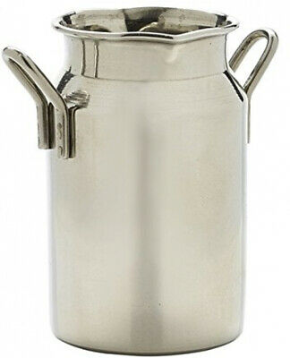 Genware NEV-MMC5 Mini Stainless Steel Milk Churn, 5 oz.
