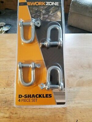 A Set Of 4 D shackles For Lifting Engines Etc.