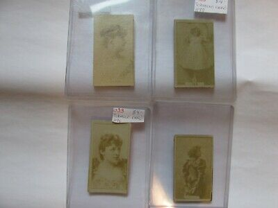 Sweet Caporal Cigarette Cards.   4 Total