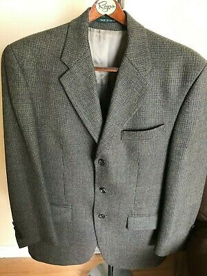 RALPH LAUREN  Mens Blazer Size  38Reg  Beige Tweed Jacket Sport Coat  Wool