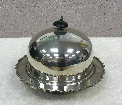 Vintage Cross Arrows William Hutton & Sons Silver Plated Food Cloche Dome #697