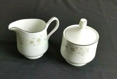 Sango Carlton China Creamer and Sugar Set Andover Pattern # 482