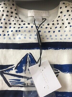 Burberry London Baby Boys T-shirt New Tags. Size 9 Months RRP £79.99