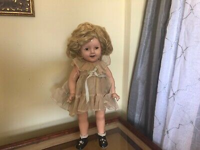 Rare Vintage 1934 Ideal Genuine Shirley Temple Composition Doll 18""