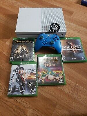 Microsoft Xbox One S 500GB Gaming Console 1681 White COMPLETE BUNDLE FREE SHIP
