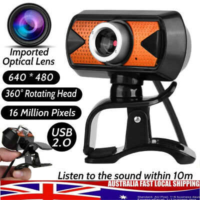 16MP HD 360° USB 2.0 Webcam Web Camera 640*480 With Mic For Laptop PC Win 7/8/10