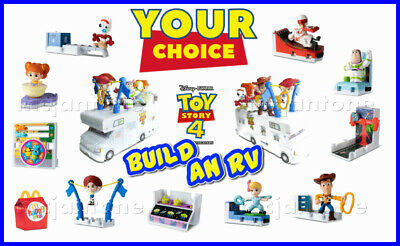 McDonald's 2019 TOY STORY 4 Disney Pixar BUILD RV Carnival Game YOUR Toy CHOICE