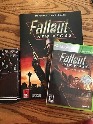 Fallout New Vegas Ultimate Edition Xbox 360 set lot of 2 Game & Official guide