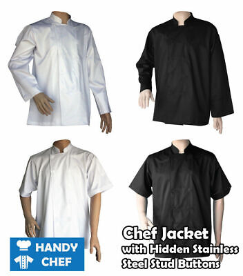 Chef Jackets press studs 6 Pack for $180  - Quality, Durable Jackets