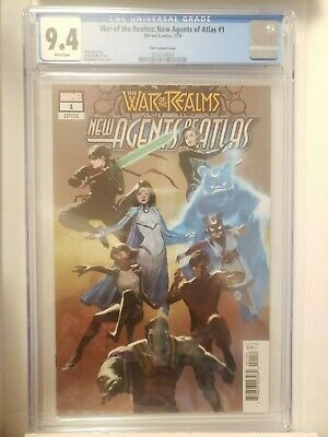 War of the Realms: New Agents of Atlas #1, CGC 9.4 NM/M 1:25 Park Variant
