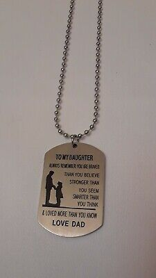 To My Daughter Love Dad Pendant Necklace