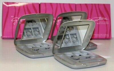 Lot of 3 MARY KAY SIGNATURE CUSTOM COMPACT (unfilled) 9004 New In Box Free Ship!