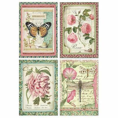 Rice Paper - Decoupage - Stamperia - 1 x A4 Size Sheet - Flower Cards