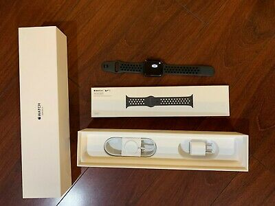 Apple Watch Series 3 42mm Stainless Steel Cellular + GPS Black Sport Nike Band