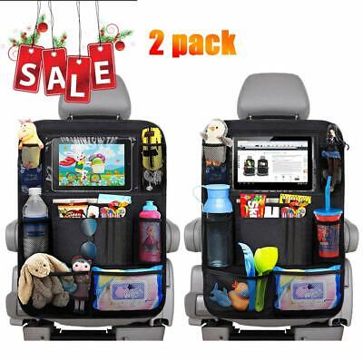 AU 2 PCS Car Back Seat Organiser Travel Storage Bag Organizer iPad Pocket Holder