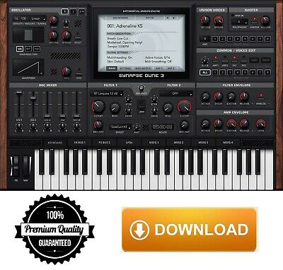 Sale ☆ Synapse Audio Dune 3 VST Plugin 🎹 Instant Delivery 📥 Fast Download