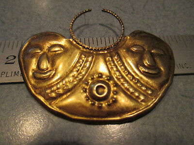 Pre-Colombian Gold Ecuadorian Guanguala Nose Ring Artifact