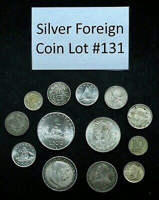 Foreign Silver Coin Lot: Collection of Old World Silver Coins #131