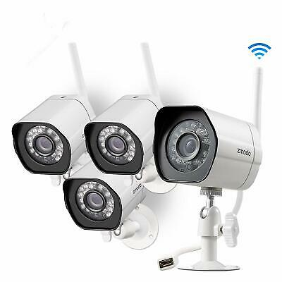 4pc Zmodo 1080p HD Outdoor Home Wifi Security Surveillance Video Camera