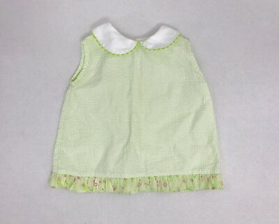 Mary James Girls Size 4T Sleeveless Green Top Shirt