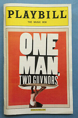 ONE MAN, TWO GUVNORS Playbill (May 2012) James Corden + Oliver Chris