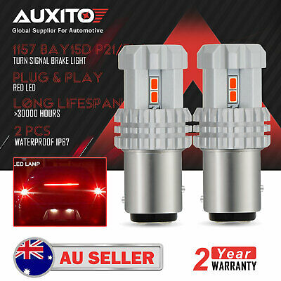 2X Auxito Bay15D 1157 Car Red Led Brake Stop Light Tail Light Bulbs Globe Au D