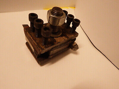 "1""Lathe Quick Change Turret 2-Way Tool Post Quick Turning Tool Holder"