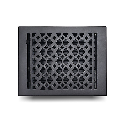 """Cast Iron floor Register Grate 8"""" x 10"""" Home Decor Powder Coated Vent Cover"""