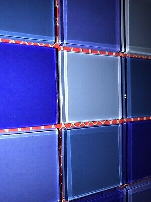 Blue Glass Mosaic Tiles Craft 15 Pieces FREE POST