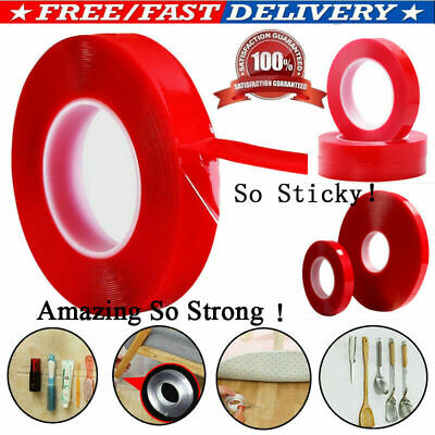 LOT RED Film Transparent DOUBLE SIDED STICKY ADHESIVE TAPE FOR Cell Phone Repair