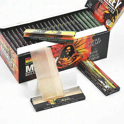 10 Pack/Box BOB MARLEY 78MM Natural Organic Cigarette Rolling Papers 1 1/4