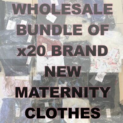 MATERNITY WHOLESALE BUNDLE JOB LOT x20 BRAND NEW BNWT BAGGED TAGGED JEANS & TOPS
