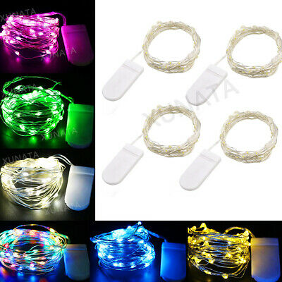 20LED Battery Micro Wire Silver Fairy String Lights Party Room Decor Warm White