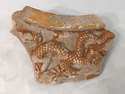 Chinese Dragon Tile - Purportedly from a Ming Tomb -