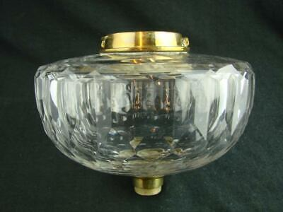Superb Victorian Cut Crystal Oil Lamp Font, Facet Cut With Bayonet Fit Collar