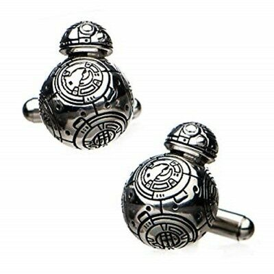 Star Wars 8: BB-8, Licensed Artwork - Metal Stainless Steel 3D Cufflinks Set