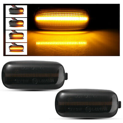 2x Dynamic LED Side Marker Indicator Light Smoked For Audi A2 A3 A4 A6 A8 MA2032
