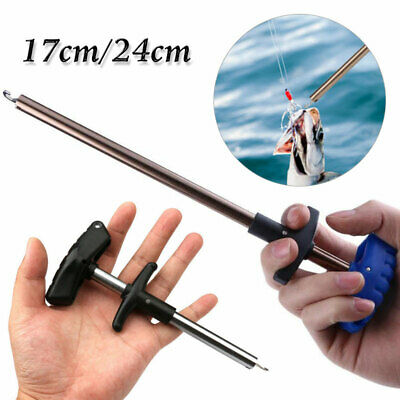 Easy /& Safe Fish Hook Remover New Fishing Tool Minimizing The Injuries 17//24cm