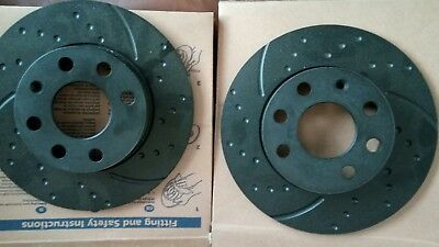 EBC (T)GD1075 Turbo Grooved Front Brake Discs 240mm (PAIR) for Vauxhall