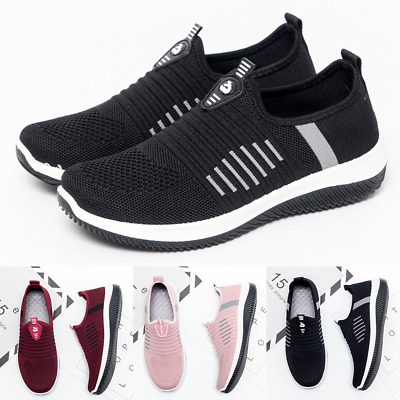Womens Breathable Mesh Trainers Sneakers Ladies Comfy Sport Gym Pumps Shoes Size
