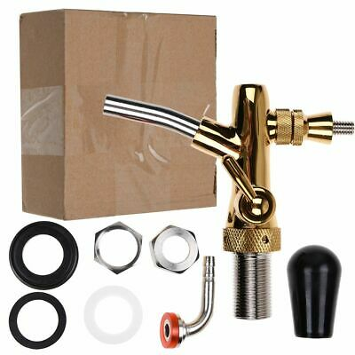 Long Shank Beer Draft Tap Faucet w/ Flow Control fit Kegerator Home Brew Gold AU