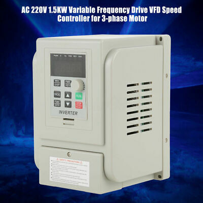 2HP 1.5KW 220V Single Phase To 3/Three Phase Output Frequency Converter VFD VSD