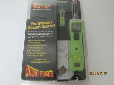 Power Probe 3 Digital Auto Electrical Tester 12-24 volt PP3CSGRN  CLAMSHELL.