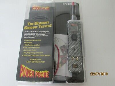 Power Probe III 3 Digital Auto Electrical Tester 12-24 volt PP3CSCARB  CLAMSHELL