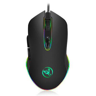 RGB E-sports Game Mice Wired S500 Programming Gaming Mouse 4800dpi 6 Button